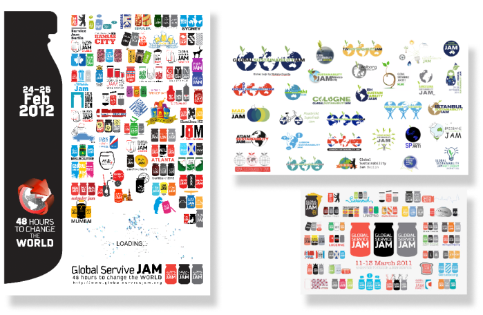 Promoting Your Jam: Logo–Examples from Jams world–wide, GSusJ11, GSJ11 and GSJ12, Poster GSJ12 by Saleh Amini, Tehran Jam. Picture by GSJ HQ.